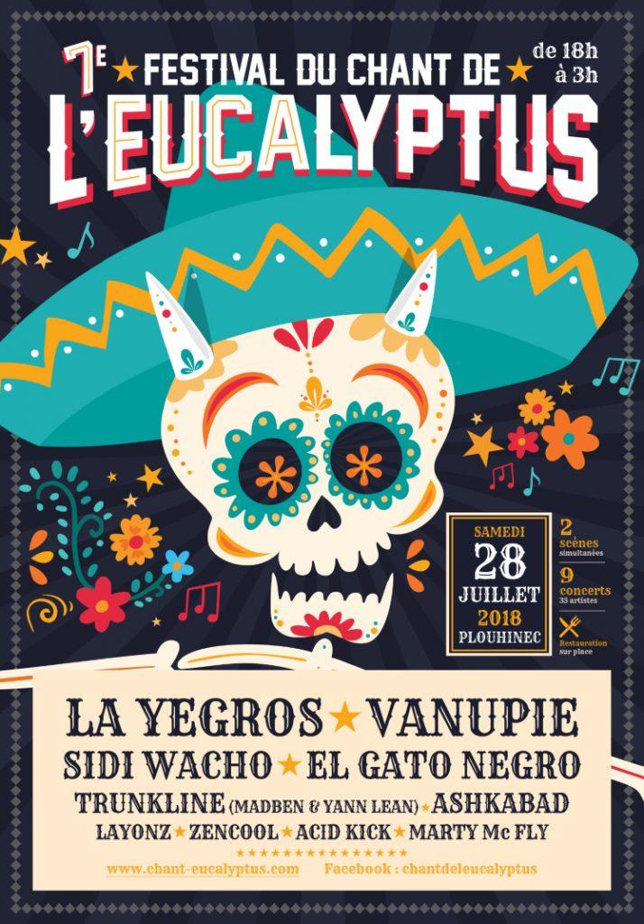 Affiche 2018 Festival de l'Eucalyptus Plouhinec